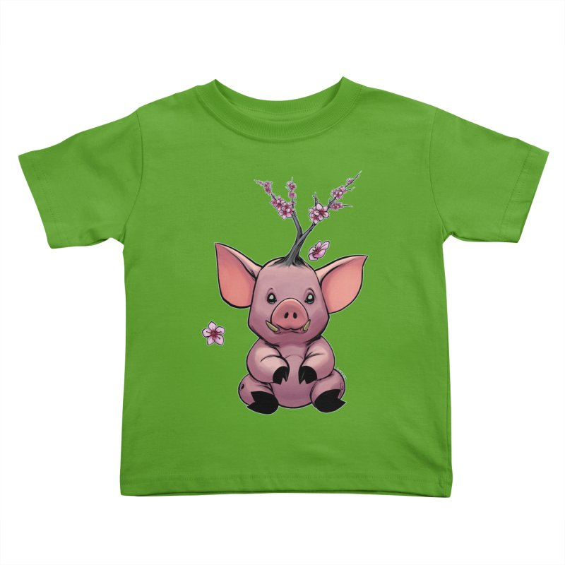 Lunar New Year 2019 Earth Pig Kids Toddler T-Shirt by weswongwithyou's Artist Shop