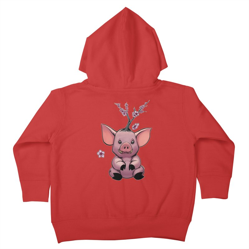 Lunar New Year 2019 Earth Pig Kids Toddler Zip-Up Hoody by weswongwithyou's Artist Shop