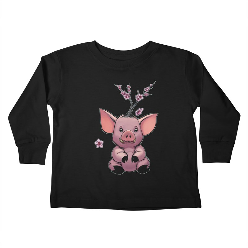Lunar New Year 2019 Earth Pig Kids Toddler Longsleeve T-Shirt by weswongwithyou's Artist Shop