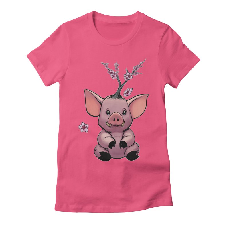 Lunar New Year 2019 Earth Pig Women's Fitted T-Shirt by weswongwithyou's Artist Shop