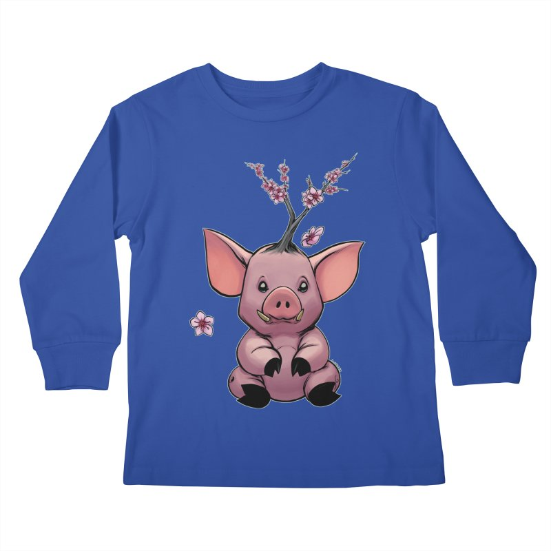 Lunar New Year 2019 Earth Pig Kids Longsleeve T-Shirt by weswongwithyou's Artist Shop