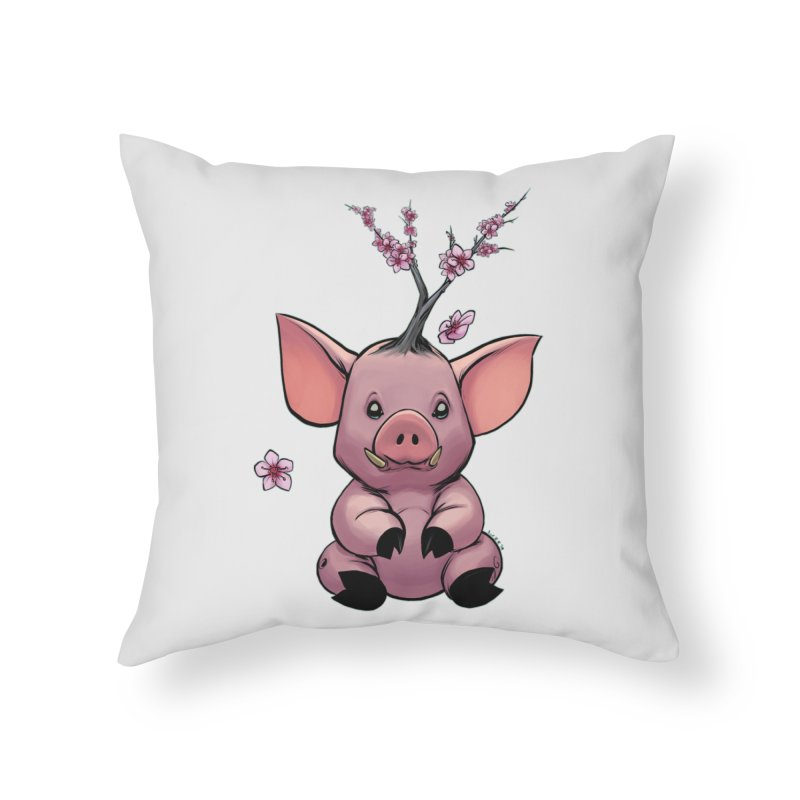 Lunar New Year 2019 Earth Pig Home Throw Pillow by weswongwithyou's Artist Shop