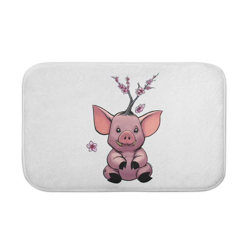 Lunar New Year 2019 Earth Pig Home Bath Mat by weswongwithyou's Artist Shop