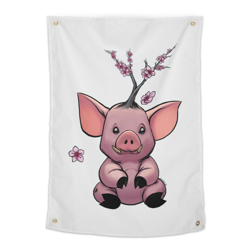Lunar New Year 2019 Earth Pig Home Tapestry by weswongwithyou's Artist Shop