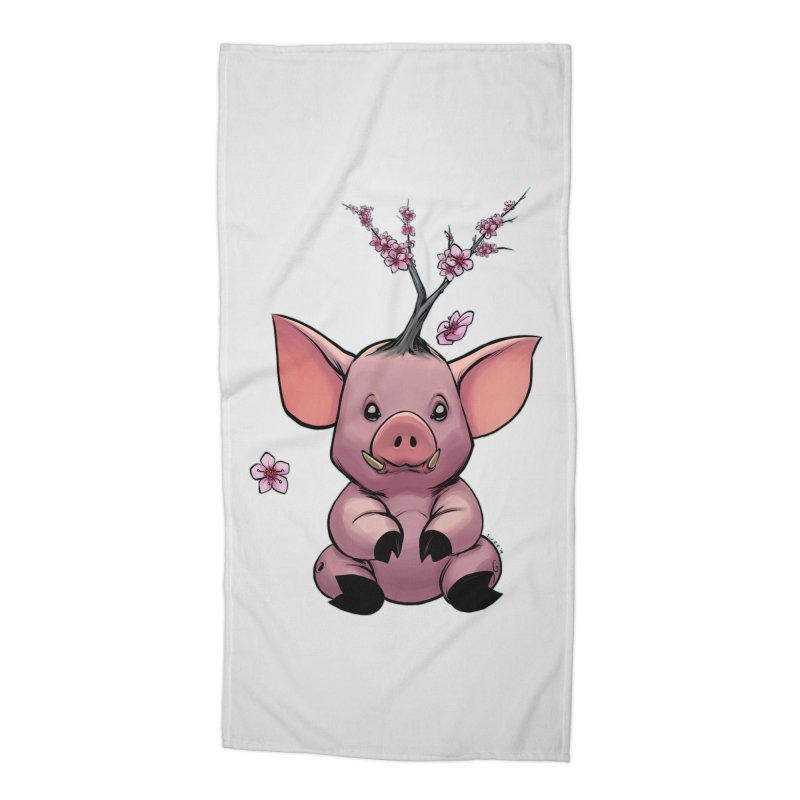 Lunar New Year 2019 Earth Pig Accessories Beach Towel by weswongwithyou's Artist Shop