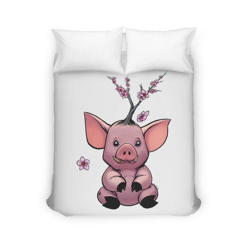Lunar New Year 2019 Earth Pig Home Duvet by weswongwithyou's Artist Shop