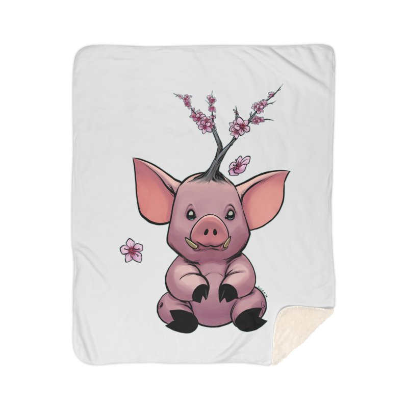 Lunar New Year 2019 Earth Pig Home Blanket by weswongwithyou's Artist Shop