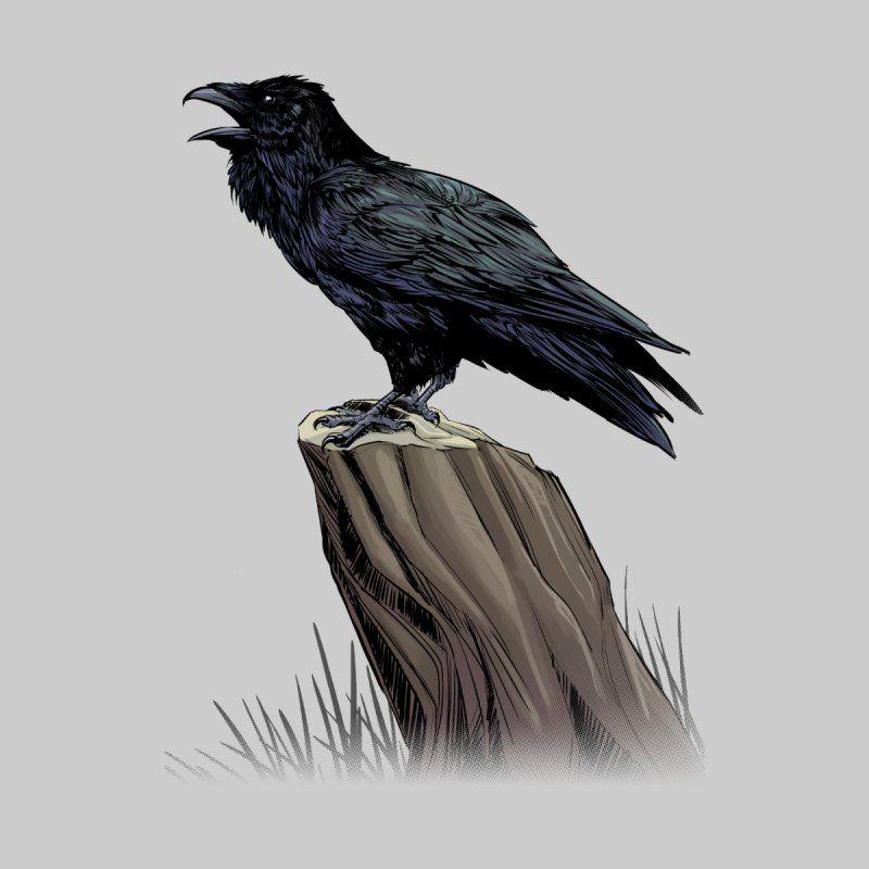 Raven Men's T-Shirt by weswongwithyou's Artist Shop