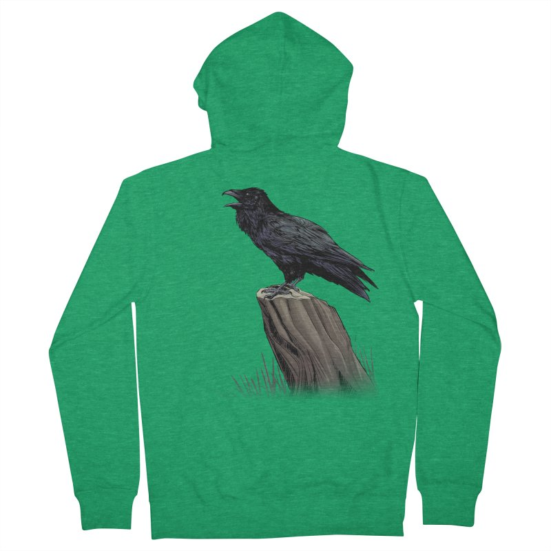 Raven Men's Zip-Up Hoody by weswongwithyou's Artist Shop