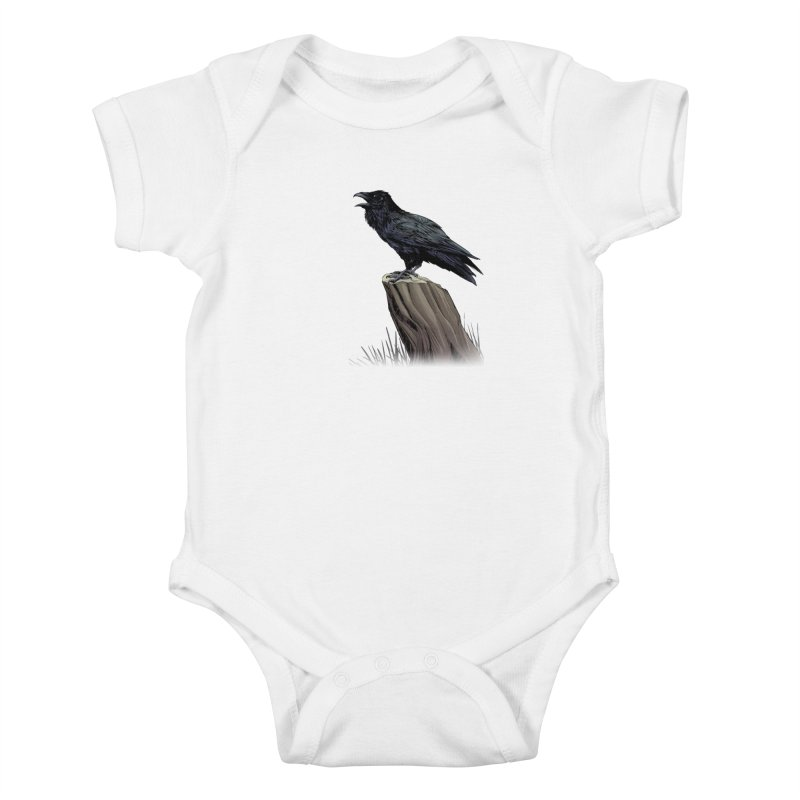 Raven Kids Baby Bodysuit by weswongwithyou's Artist Shop