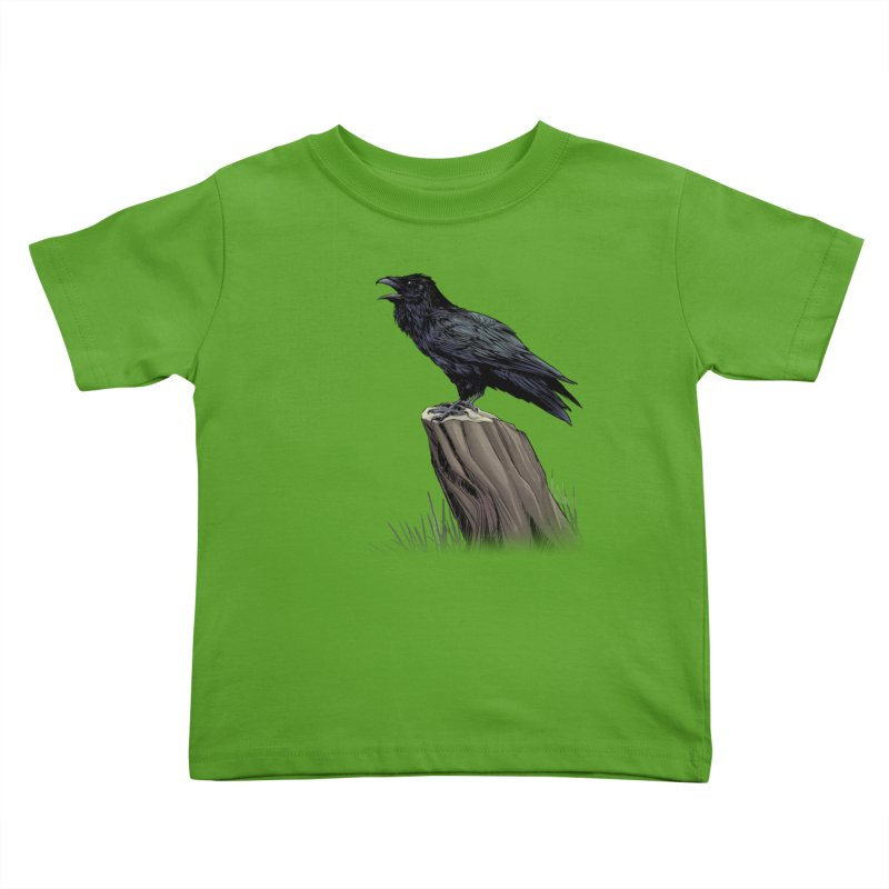 Raven Kids Toddler T-Shirt by weswongwithyou's Artist Shop