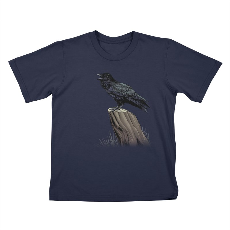 Raven Kids T-Shirt by weswongwithyou's Artist Shop