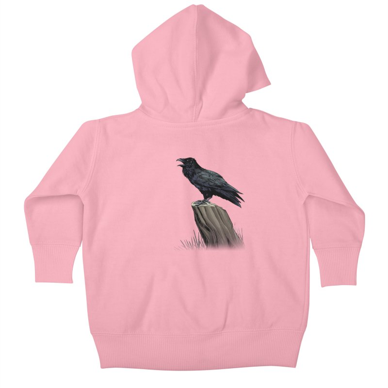 Raven Kids Baby Zip-Up Hoody by weswongwithyou's Artist Shop