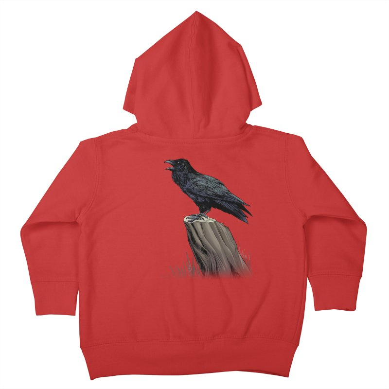Raven Kids Toddler Zip-Up Hoody by weswongwithyou's Artist Shop