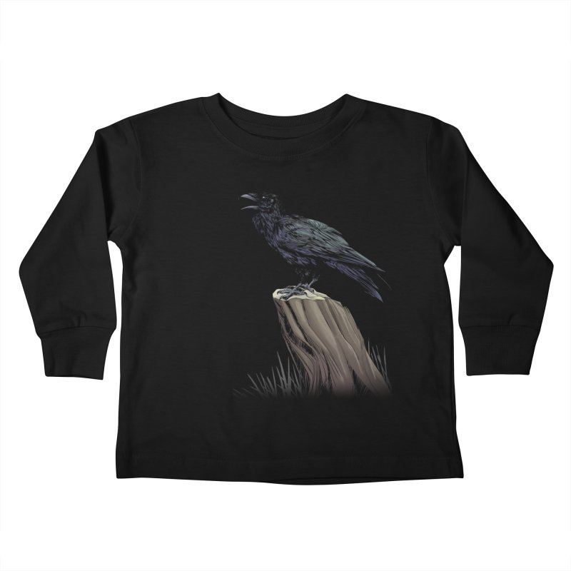 Raven Kids Toddler Longsleeve T-Shirt by weswongwithyou's Artist Shop