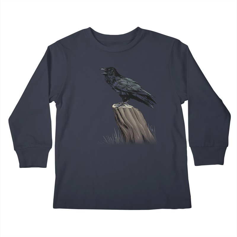 Raven Kids Longsleeve T-Shirt by weswongwithyou's Artist Shop