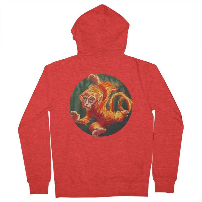 Year of the Fire Monkey Men's Zip-Up Hoody by weswongwithyou's Artist Shop