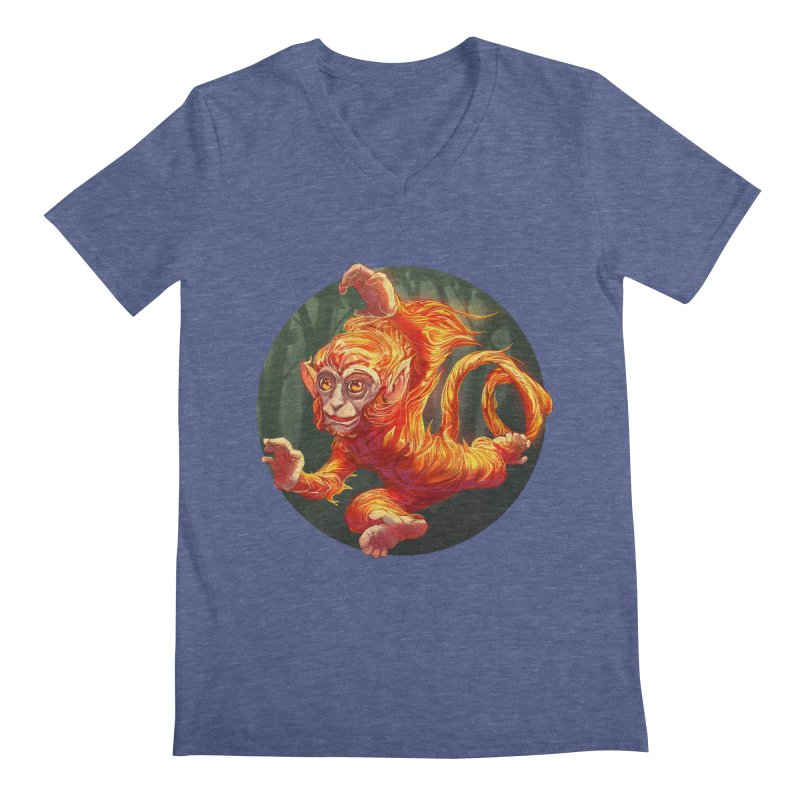 Year of the Fire Monkey Men's V-Neck by weswongwithyou's Artist Shop