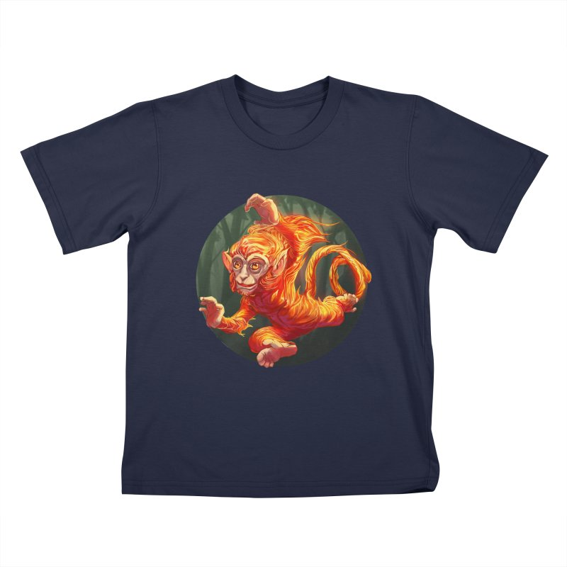 Year of the Fire Monkey Kids T-Shirt by weswongwithyou's Artist Shop
