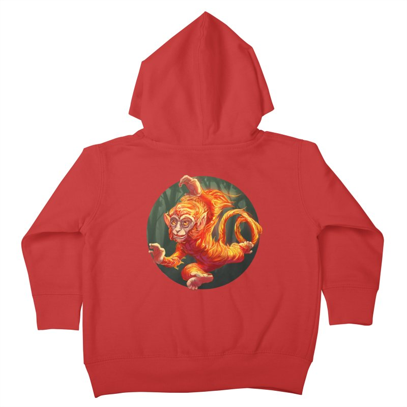 Year of the Fire Monkey Kids Toddler Zip-Up Hoody by weswongwithyou's Artist Shop