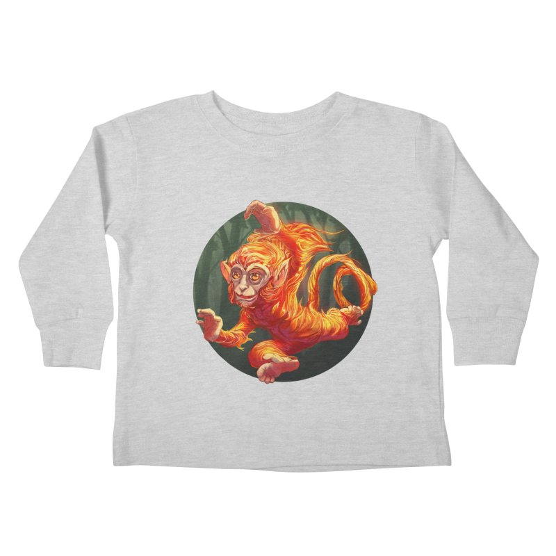 Year of the Fire Monkey Kids Toddler Longsleeve T-Shirt by weswongwithyou's Artist Shop