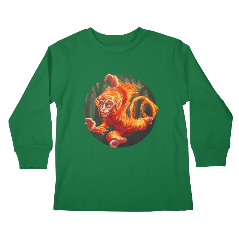 Year of the Fire Monkey Kids Longsleeve T-Shirt by weswongwithyou's Artist Shop