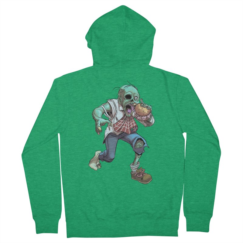 Hungry Zombie Men's Zip-Up Hoody by weswongwithyou's Artist Shop