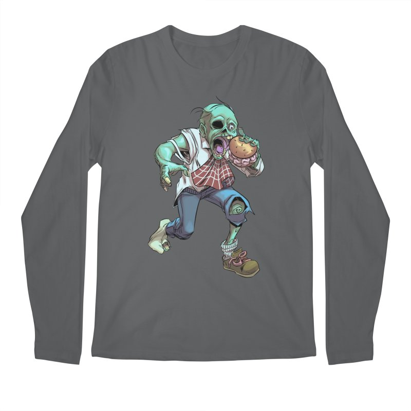 Hungry Zombie Men's Longsleeve T-Shirt by weswongwithyou's Artist Shop
