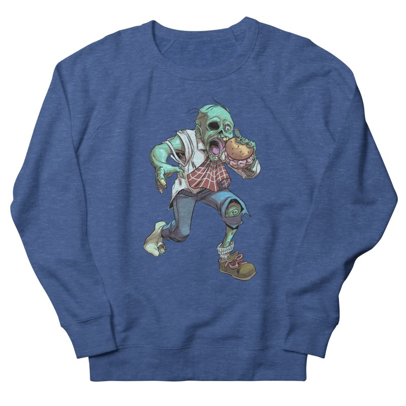 Hungry Zombie Men's Sweatshirt by weswongwithyou's Artist Shop