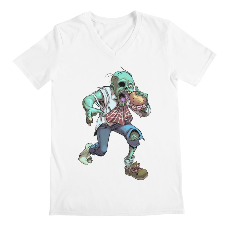 Hungry Zombie Men's V-Neck by weswongwithyou's Artist Shop