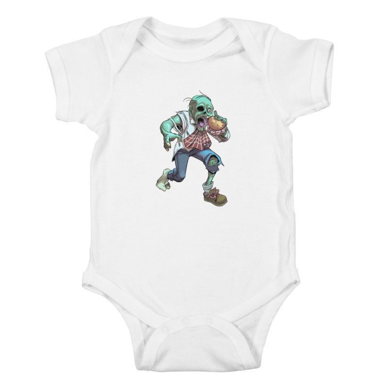 Hungry Zombie Kids Baby Bodysuit by weswongwithyou's Artist Shop