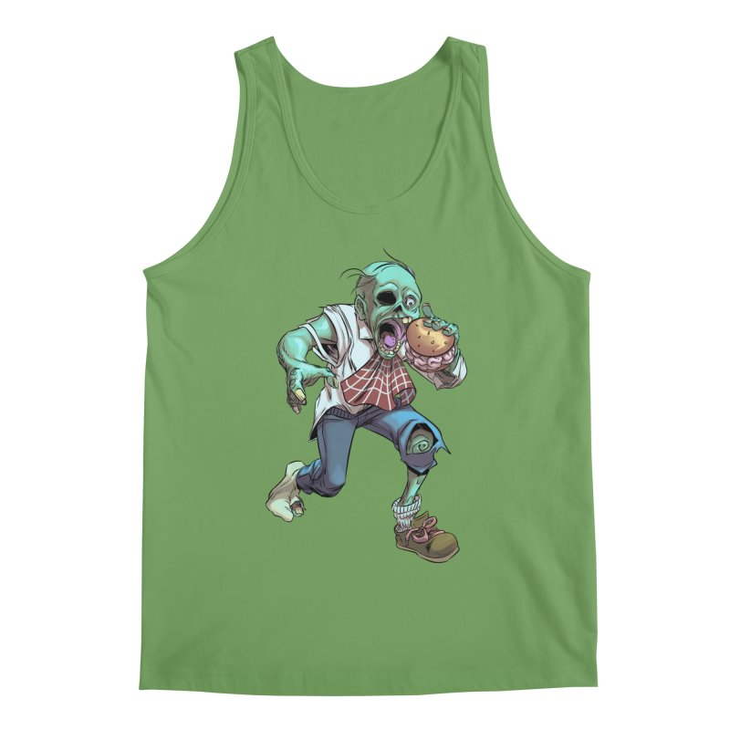 Hungry Zombie Men's Tank by weswongwithyou's Artist Shop