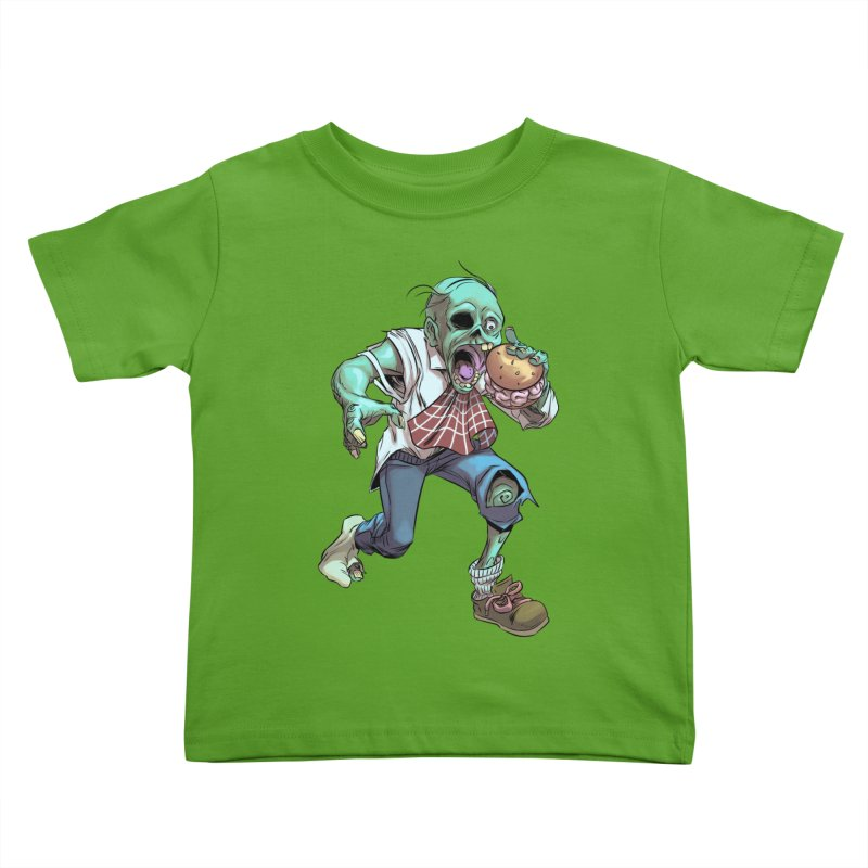 Hungry Zombie Kids Toddler T-Shirt by weswongwithyou's Artist Shop