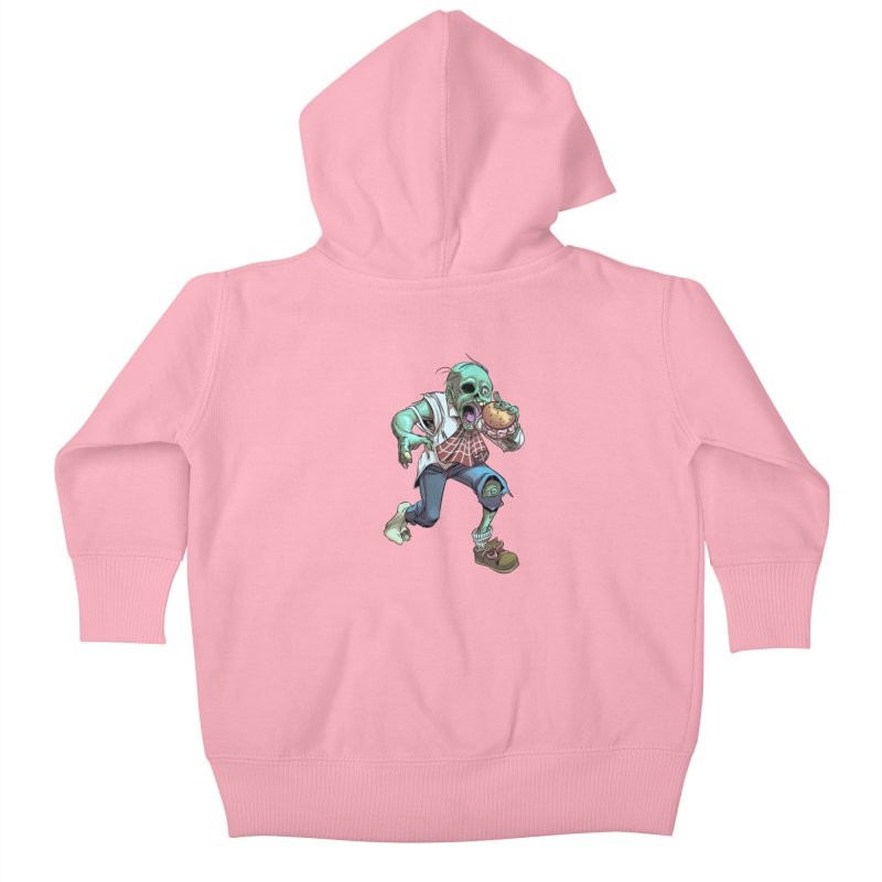 Hungry Zombie Kids Baby Zip-Up Hoody by weswongwithyou's Artist Shop