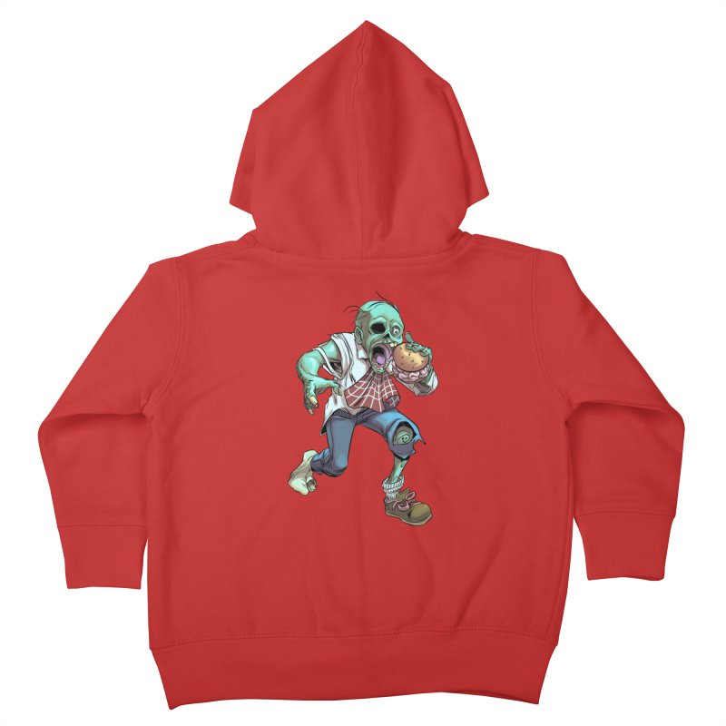 Hungry Zombie Kids Toddler Zip-Up Hoody by weswongwithyou's Artist Shop