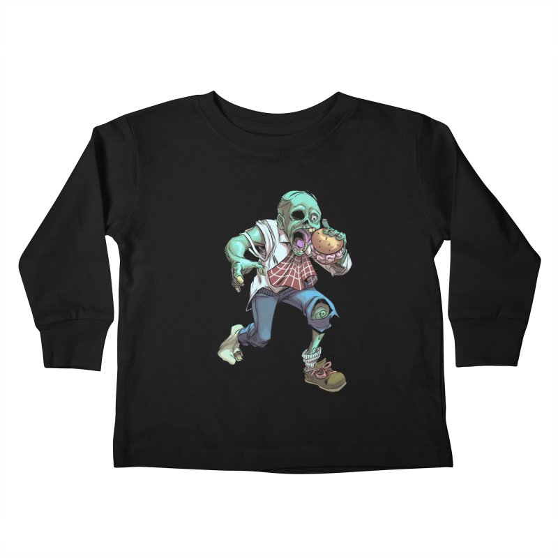 Hungry Zombie Kids Toddler Longsleeve T-Shirt by weswongwithyou's Artist Shop