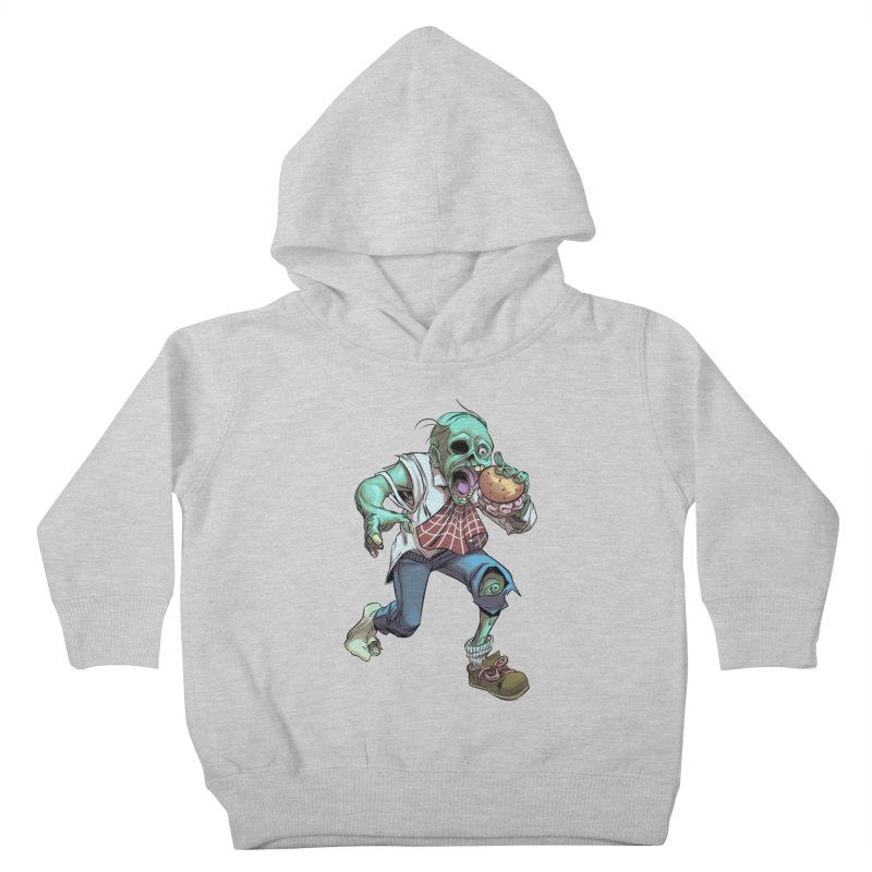 Hungry Zombie Kids Toddler Pullover Hoody by weswongwithyou's Artist Shop