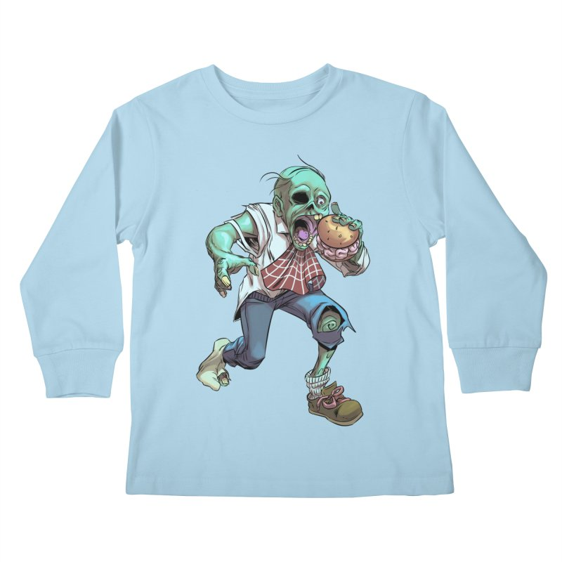 Hungry Zombie Kids Longsleeve T-Shirt by weswongwithyou's Artist Shop