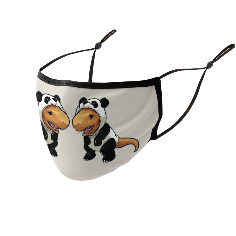Panda-Suited Rex Accessories Face Mask by weswongwithyou's Artist Shop