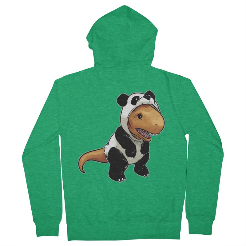 Panda-Suited Rex Men's Zip-Up Hoody by weswongwithyou's Artist Shop