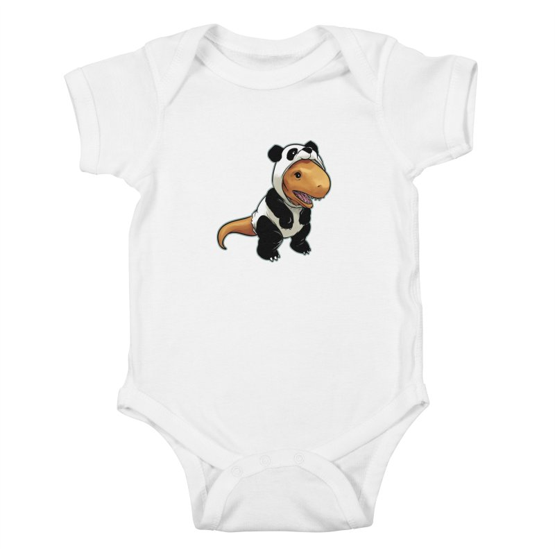 Panda-Suited Rex Kids Baby Bodysuit by weswongwithyou's Artist Shop