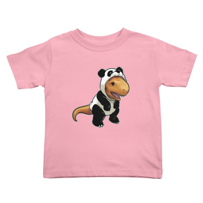 Panda-Suited Rex Kids Toddler T-Shirt by weswongwithyou's Artist Shop