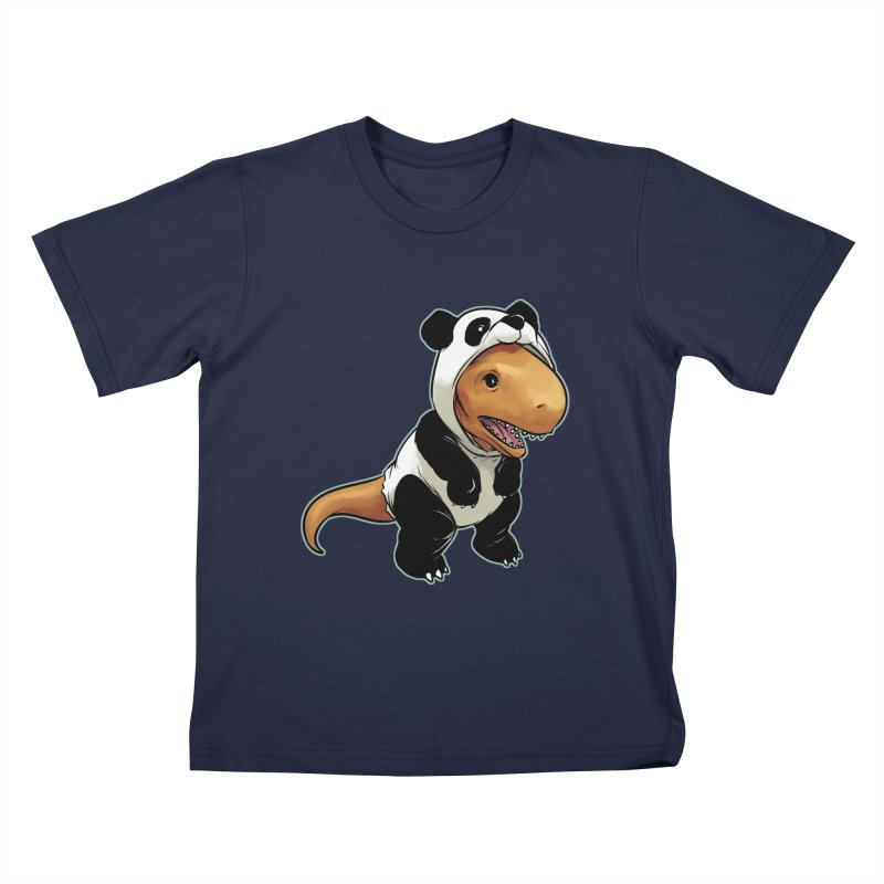 Panda-Suited Rex Kids T-Shirt by weswongwithyou's Artist Shop