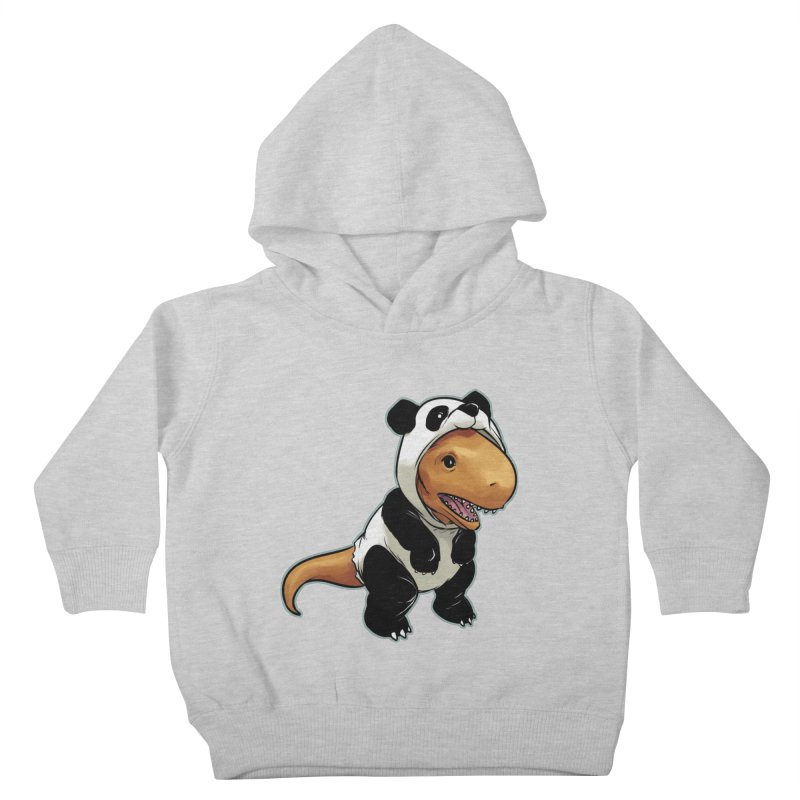 Panda-Suited Rex Kids Toddler Pullover Hoody by weswongwithyou's Artist Shop