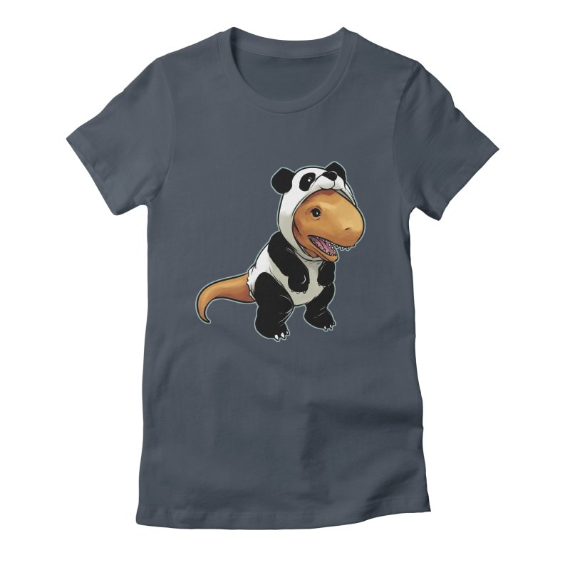 Panda-Suited Rex Women's T-Shirt by weswongwithyou's Artist Shop
