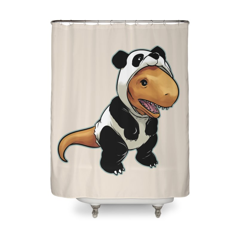 Panda-Suited Rex Home Shower Curtain by weswongwithyou's Artist Shop