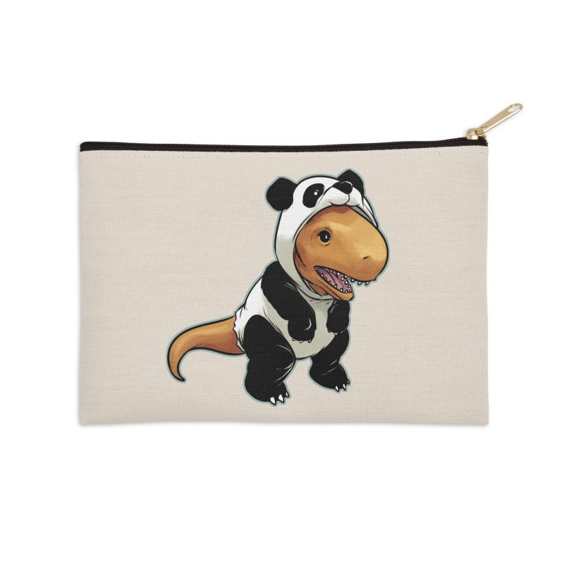 Panda-Suited Rex Accessories Zip Pouch by weswongwithyou's Artist Shop
