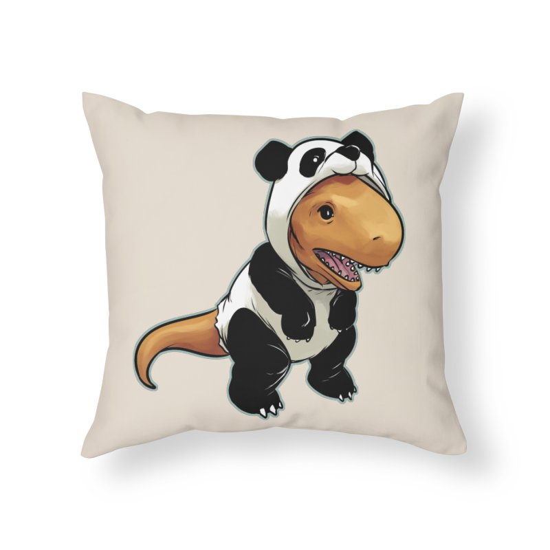 Panda-Suited Rex Home Throw Pillow by weswongwithyou's Artist Shop