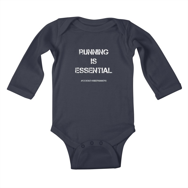 Shirt - Southside Runners - Running is Essential Kids Baby Longsleeve Bodysuit by Wet Silver's Artist Shop