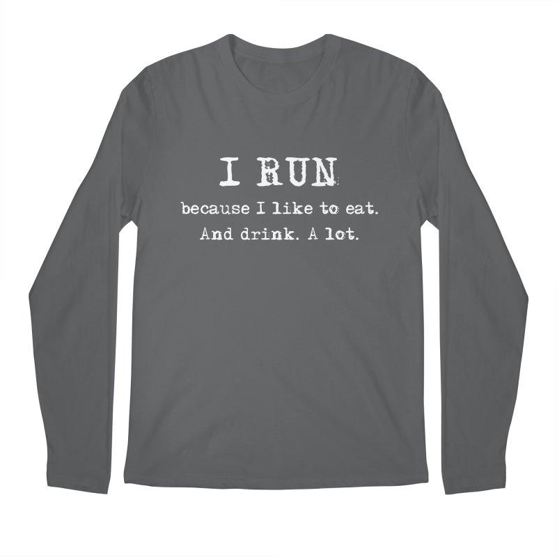 Shirt - When Food is Life... Run! Men's Longsleeve T-Shirt by Wet Silver's Artist Shop